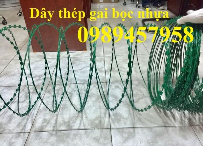 Dây kẽm gai bọc nhựa, dây thép gai hình dao bọc nhựa giá rẻ7