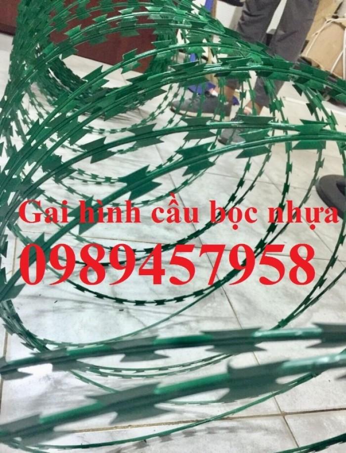Dây kẽm gai bọc nhựa, dây thép gai hình dao bọc nhựa giá rẻ9