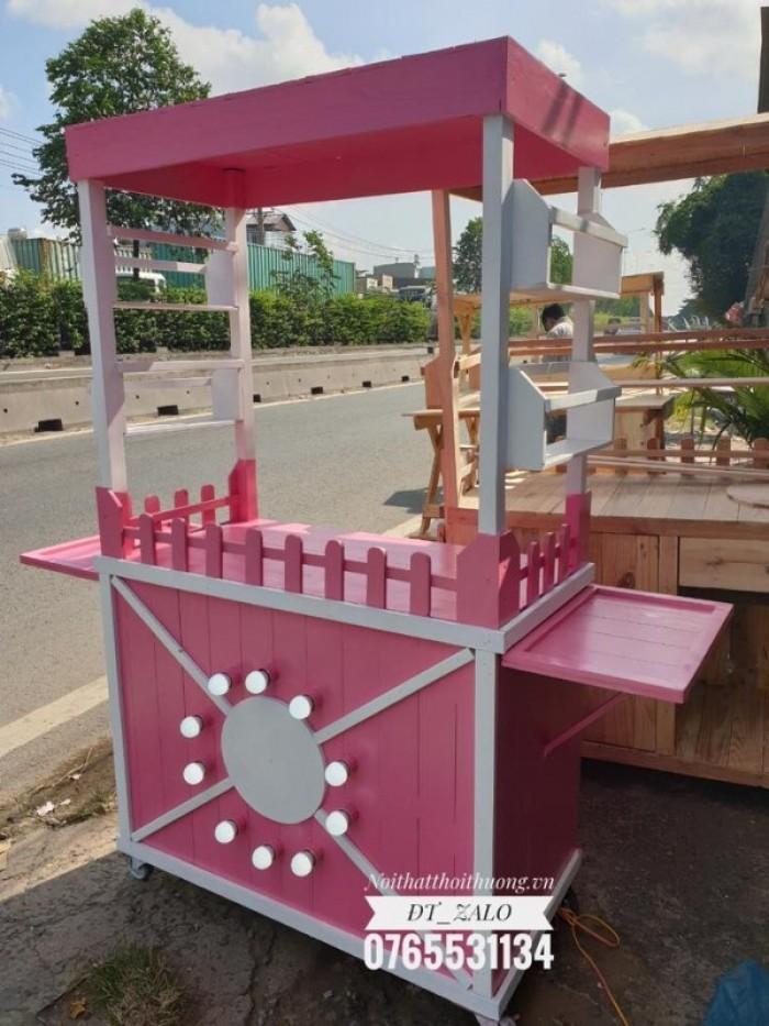 Tủ trà sữa đẹp hồng TS032