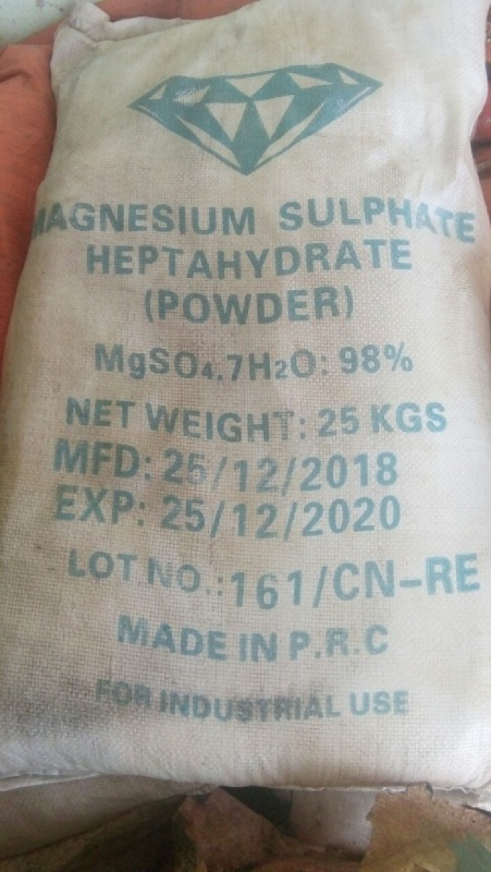 MGSO4.7H20 SẤY CỰC KHÔ, Nguyên liệu, phụ gia để trộn hàng bột khô phân bón.1