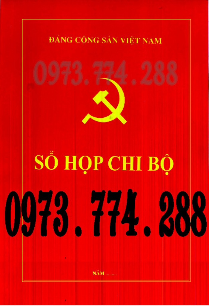 Bán Sổ họp chi bộ giá rẻ chất lượng uy tín tại Hà Nội0