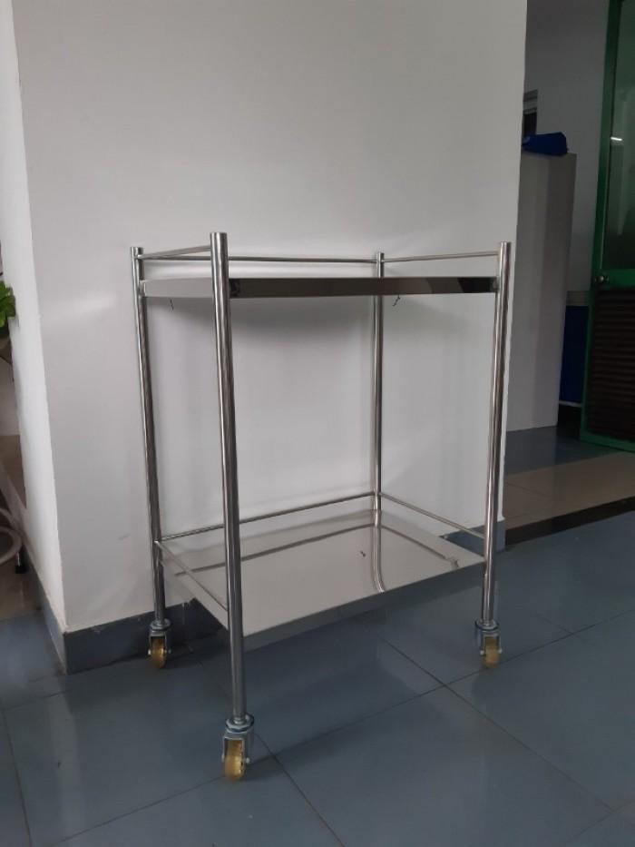 Xe đẩy y tế 2-3 tầng inox 304 - Mới 100%1