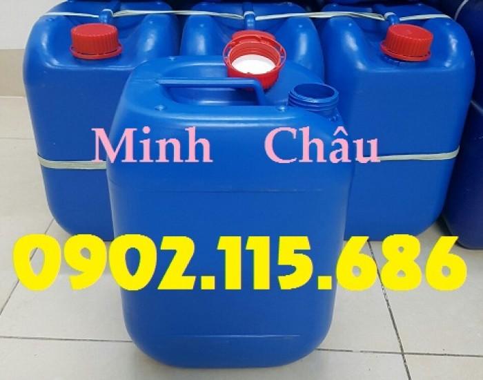 Can đựng hóa chất 10L, can đựng hóa chất nặng, can nhựa HDPE nguyên sinh,0
