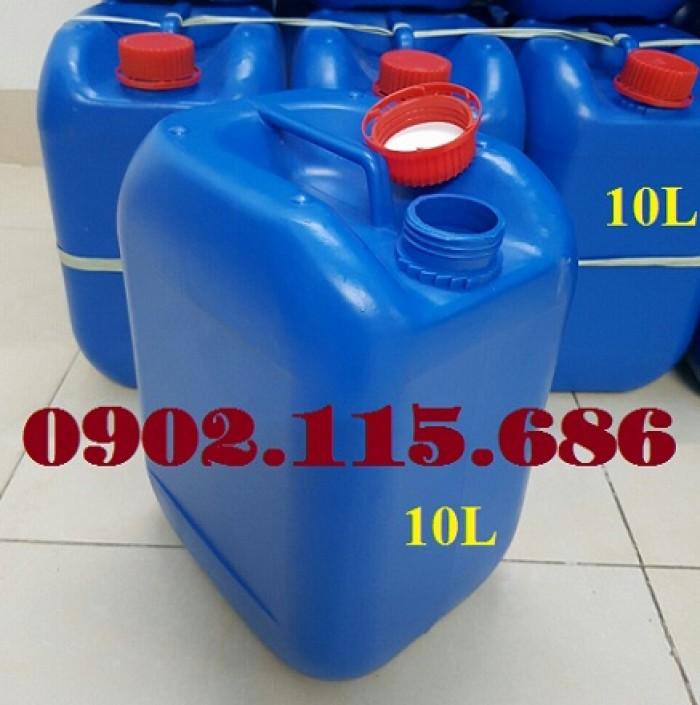 Can đựng hóa chất 10L, can đựng hóa chất nặng, can nhựa HDPE nguyên sinh,5