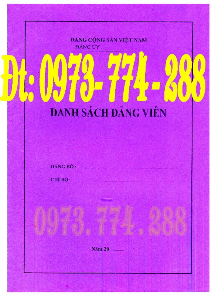 Sổ theo dõi kết nạp đảng viên, giá rẻ - chất lượng - uy tín tại Hà Nội12