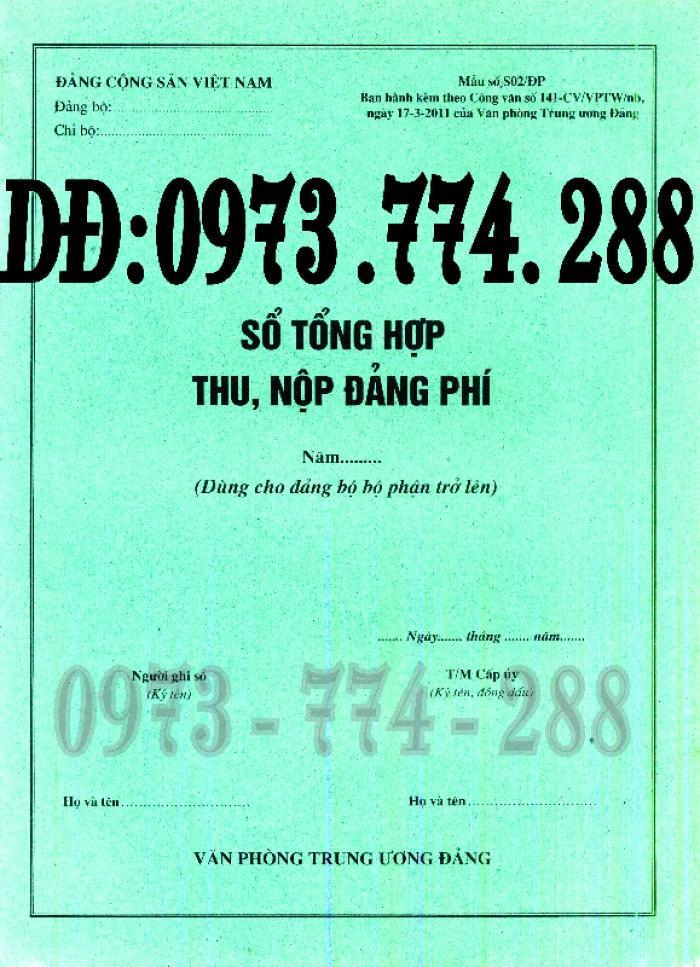 Sổ theo dõi kết nạp đảng viên, giá rẻ - chất lượng - uy tín tại Hà Nội16