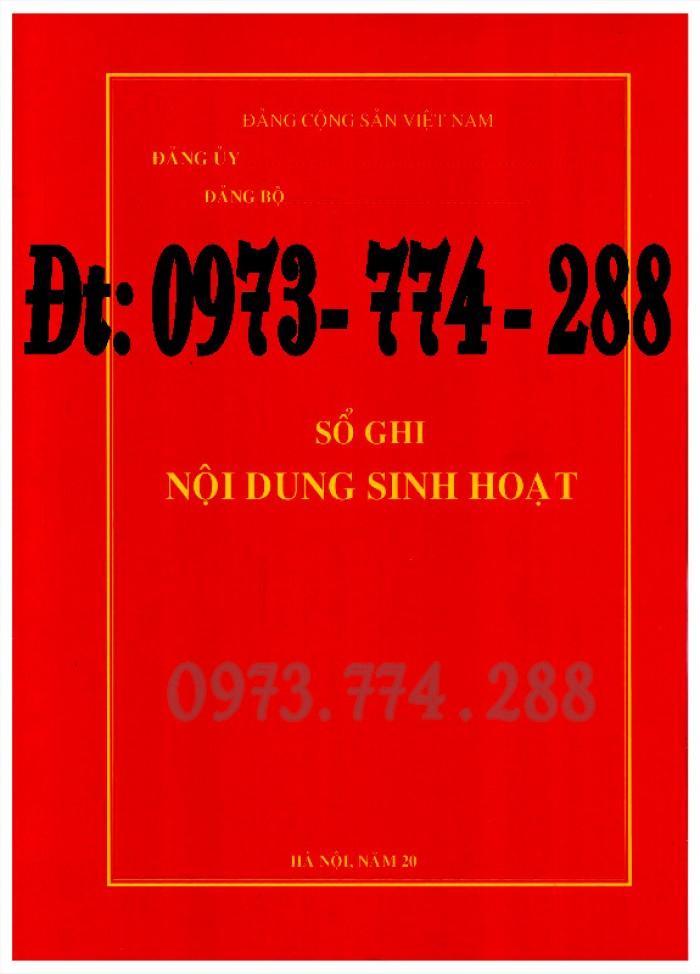 Sổ Đảng viên dự bị, giá rẻ, chất lượng, uy tín tại Hà Nội7