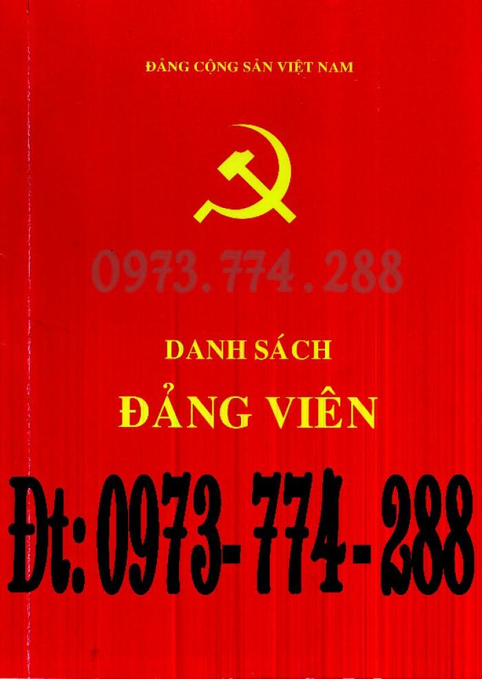Sổ Đảng viên dự bị, giá rẻ, chất lượng, uy tín tại Hà Nội8