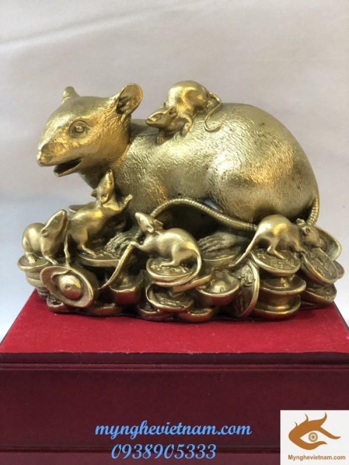 Chuột Đàn phong thủy bằng đồng nguyên chất0
