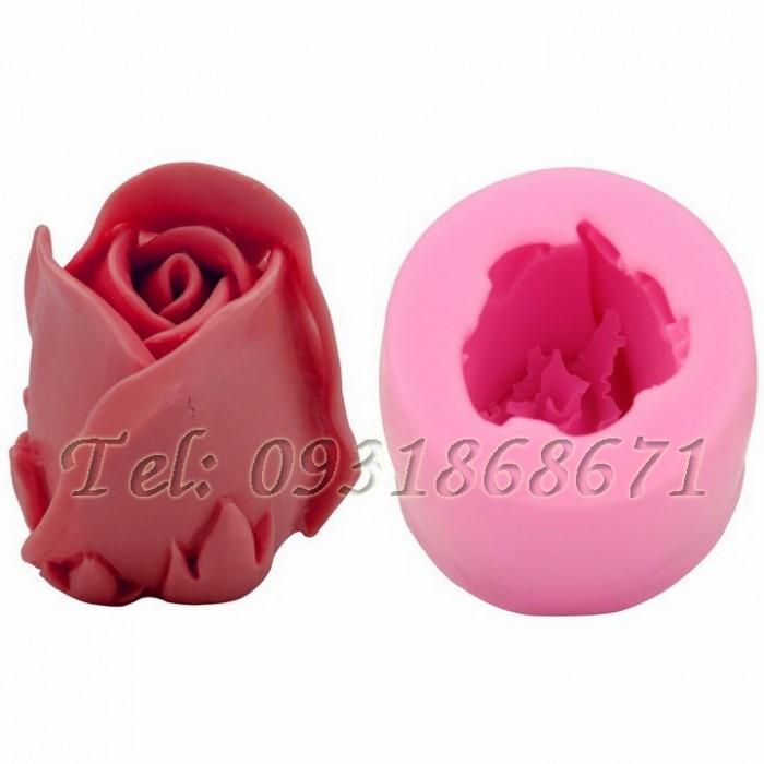 Khuôn rau câu silicon hoa hồng búp - Mã số 70