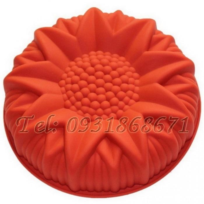 Khuôn rau câu silicon hoa hướng dương - Mã số 1750
