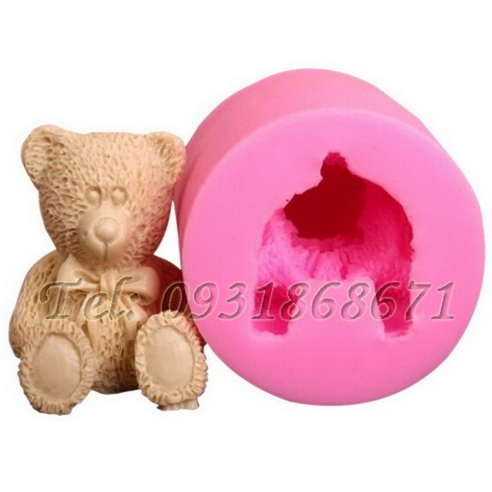 Khuôn rau câu silicon gấu teddy - Mã số 830