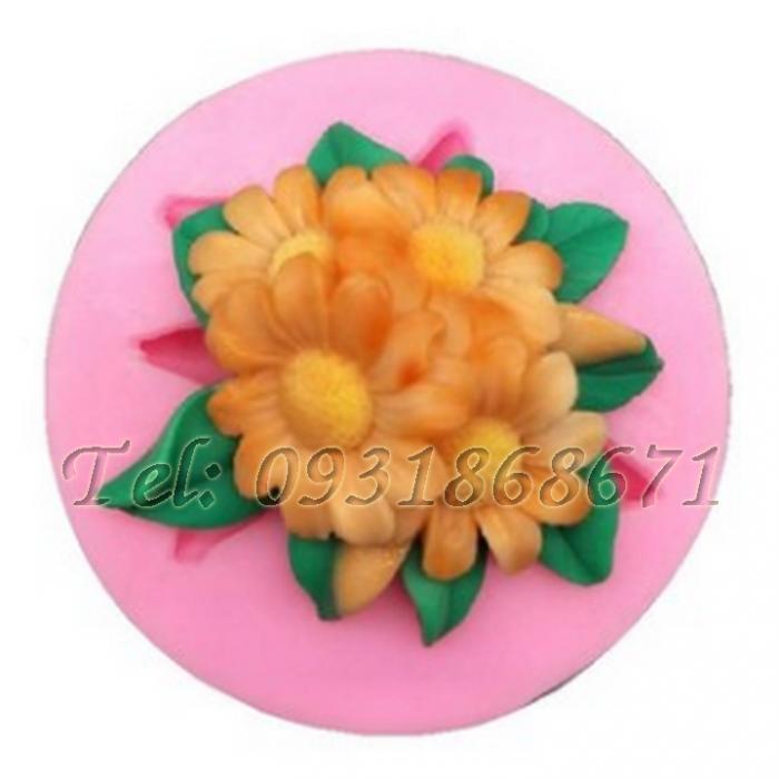 Khuôn rau câu silicon hoa cúc chùm - Mã số 860