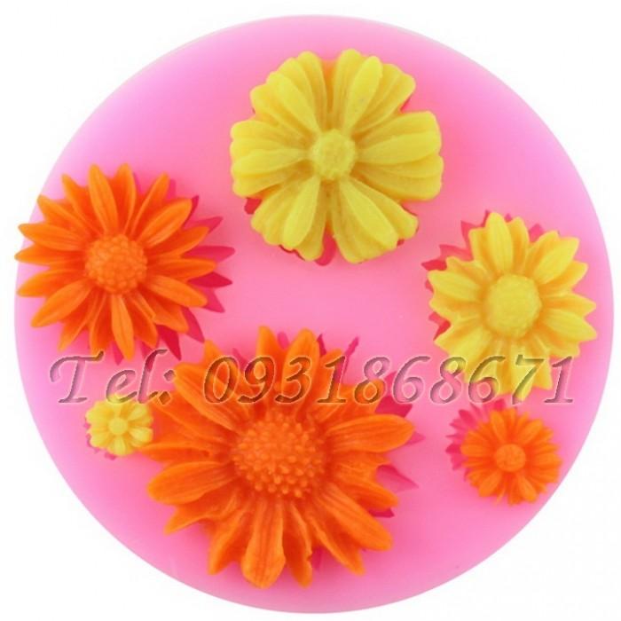 Khuôn rau câu silicon các loại hoa - Mã số 160