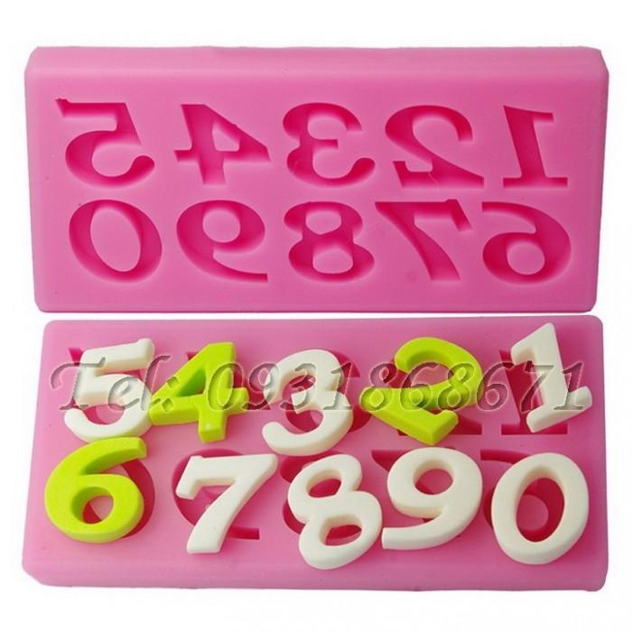 Khuôn rau câu silicon 10 số - Mã số 740