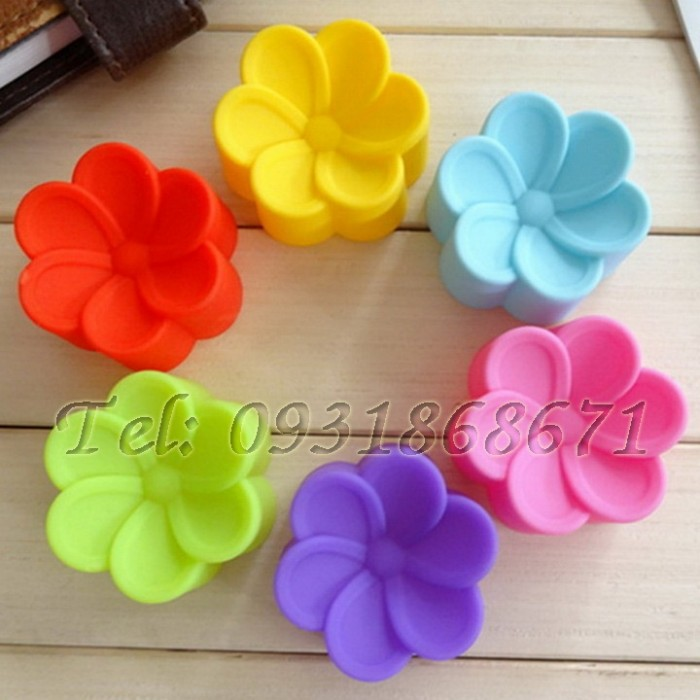 Bộ 10 khuôn silicon hoa mai - Mã số 89 - Size 5 cm0
