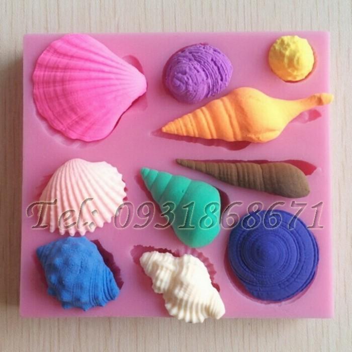 Khuôn rau câu silicon sò, ốc biển - Mã số 260