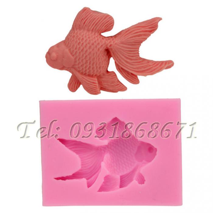 Khuôn rau câu silicon cá bụng bự - Mã số 2160