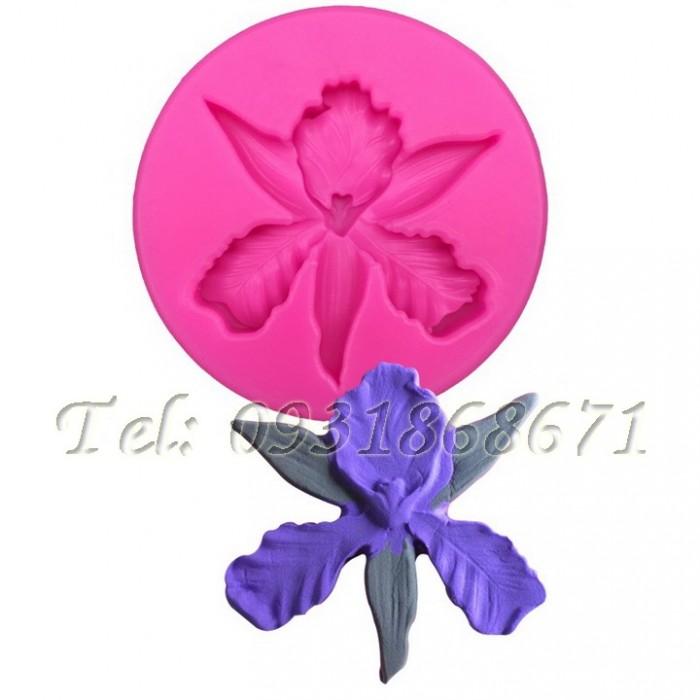 Khuôn rau câu silicon hoa lan - Mã số 2130