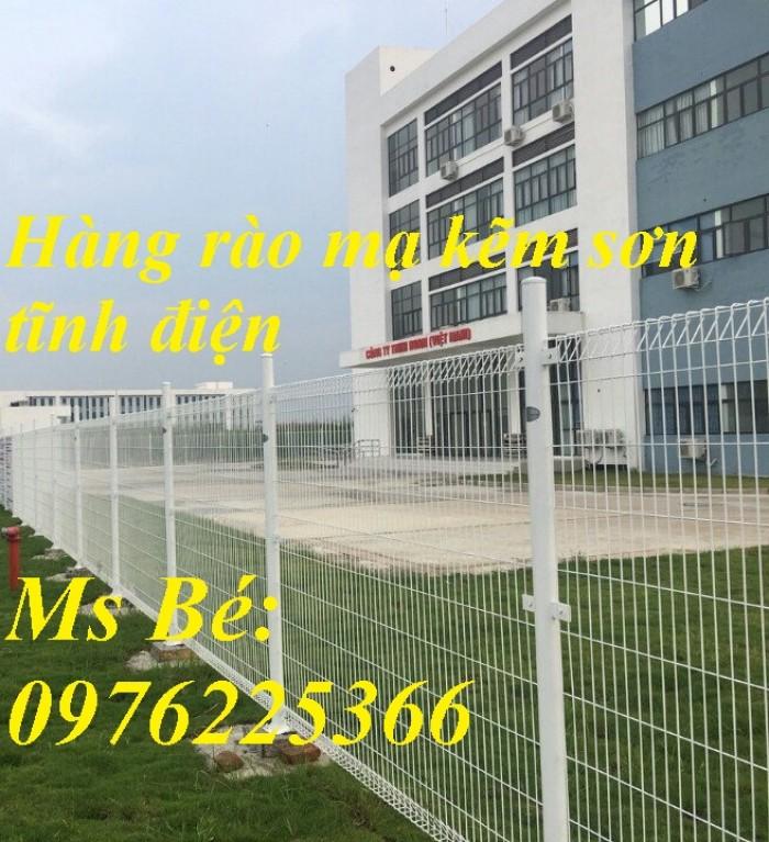 Hàng rào lưới thép hàn, hàng rào mạ kẽm, hàng rào sơn tĩnh điện3