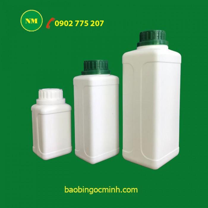 chai nhựa vuông 100ml, 500ml, 1 lít10