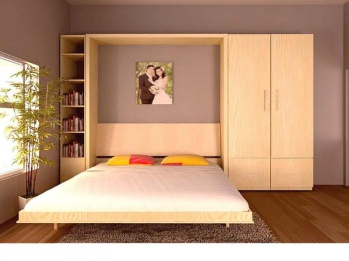Giường gấp tường đa năng,  giường xếp ẩn tủ giá rẻ tphcm, bình dương2