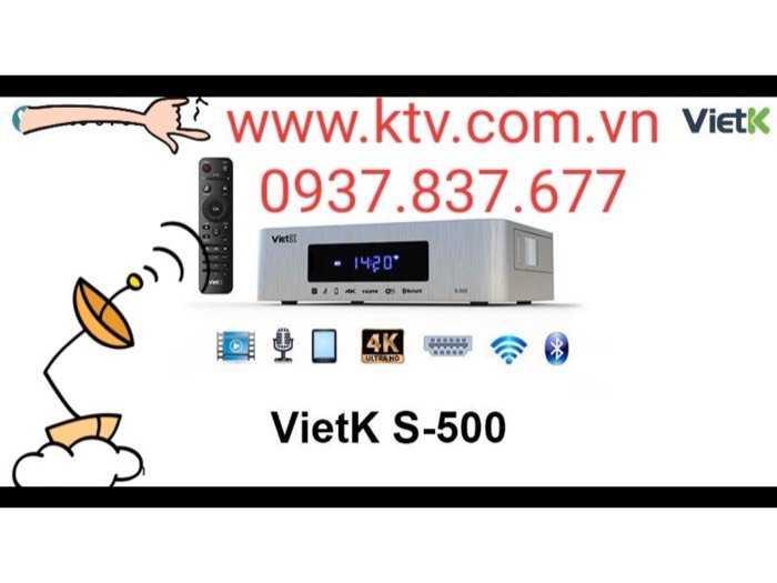 Đầu karaoke giá rẻ VietK s-500 4.000 Gb0