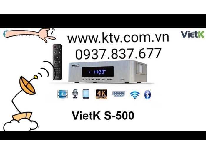 Đầu karaoke giá rẻ VietK s-500 4.000 Gb1