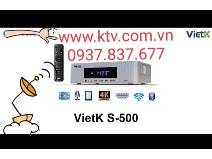 Đầu karaoke giá rẻ VietK s-500 4.000 Gb2