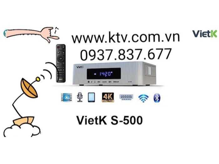 Đầu karaoke giá rẻ VietK s-500 4.000 Gb3