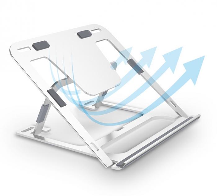 Đế đỡ tản nhiệt Cao cấp cho Macbook Laptop High quality laptop support desktop support cooling base bracket portable multi al anti-cervical3