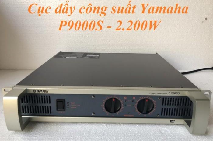 Cục Đẩy công suất Yamaha P9000S Công suất Stereo: 8 Ohms/ 1100W x 2,  4 Ohms/ 1600W x 2. 1