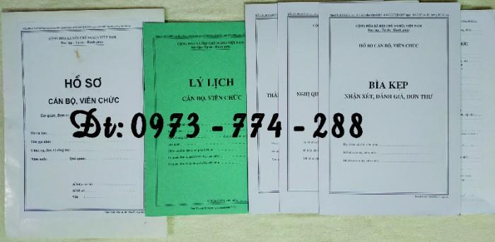Quyển lý lịch viên chức mẫu HS09-VC/BNV15