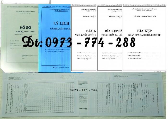 Quyển lý lịch viên chức mẫu HS09-VC/BNV22