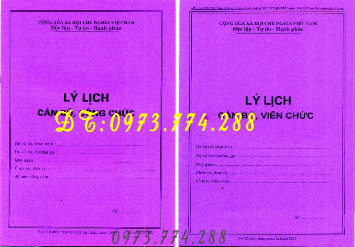 Lý lịch viên chức giá cả, uy tín, chất lượng, mẫu chuẩn mới tại Hà Nội7