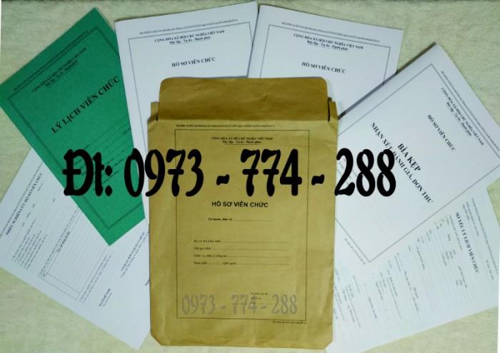 Bộ hồ sơ viên chức mẫu HS09-VC/BNV theo thông tư số 07/2019 mới nhất0