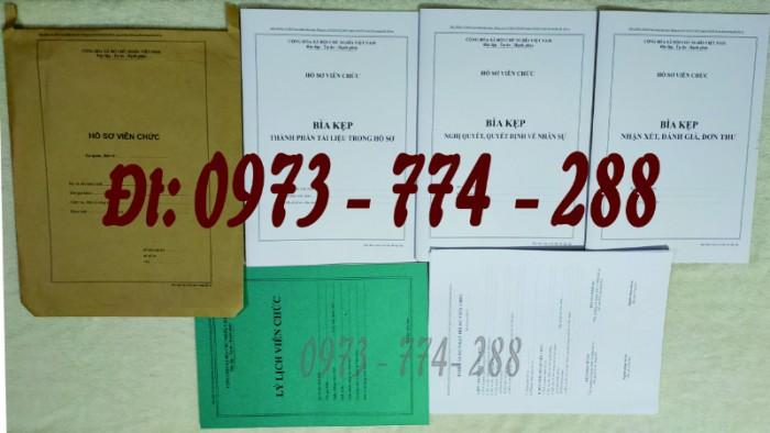 Bộ hồ sơ viên chức - Hồ sơ cán bộ, viên chức0