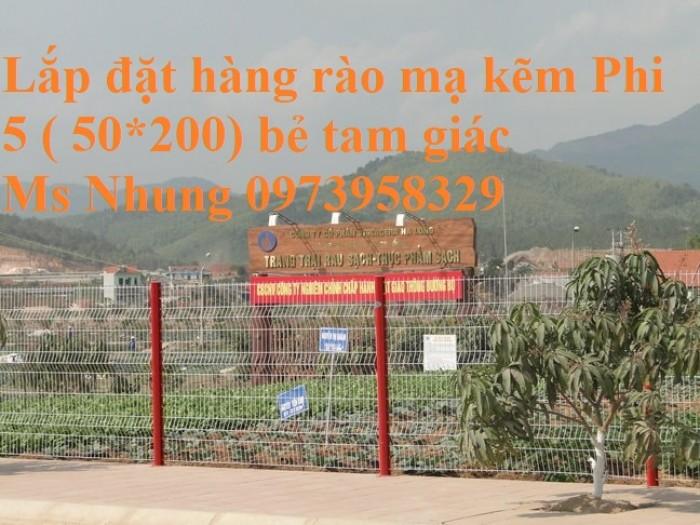 Hàng rào mạ kẽm sơn tĩnh điện D4  , D5, D6 ( 50*100, 50*150,50*200, 100*150,100*200) , hàng rào bẻ tam giác , hàng giào1