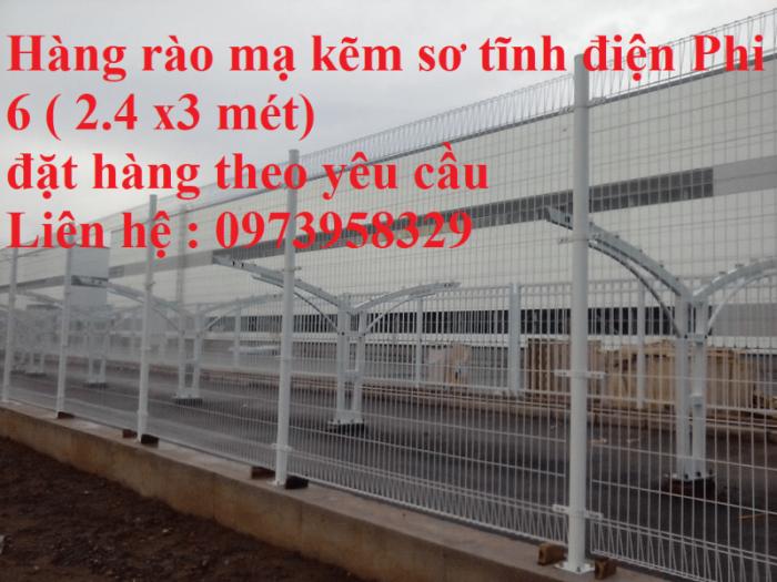 Hàng rào mạ kẽm sơn tĩnh điện D4  , D5, D6 ( 50*100, 50*150,50*200, 100*150,100*200) , hàng rào bẻ tam giác , hàng giào3
