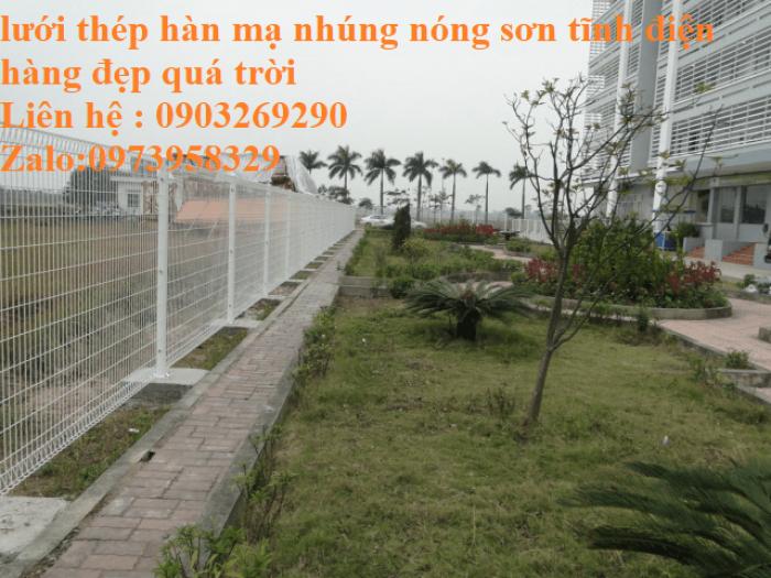 Hàng rào mạ kẽm sơn tĩnh điện D4  , D5, D6 ( 50*100, 50*150,50*200, 100*150,100*200) , hàng rào bẻ tam giác , hàng giào4