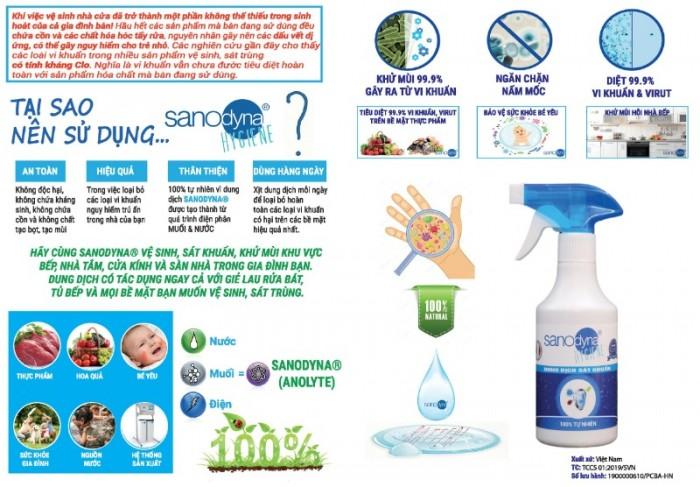 Dung dịch sát khuẩn Anolyte 100% tự nhiên thương hiệu Sanodyna ITALIA dung tích 5 lít