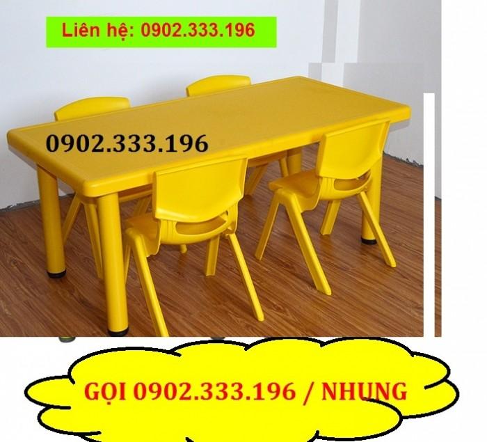 Bàn nhựa cho bé rẻ nhất, bàn nhựa mầm non giá rẻ13