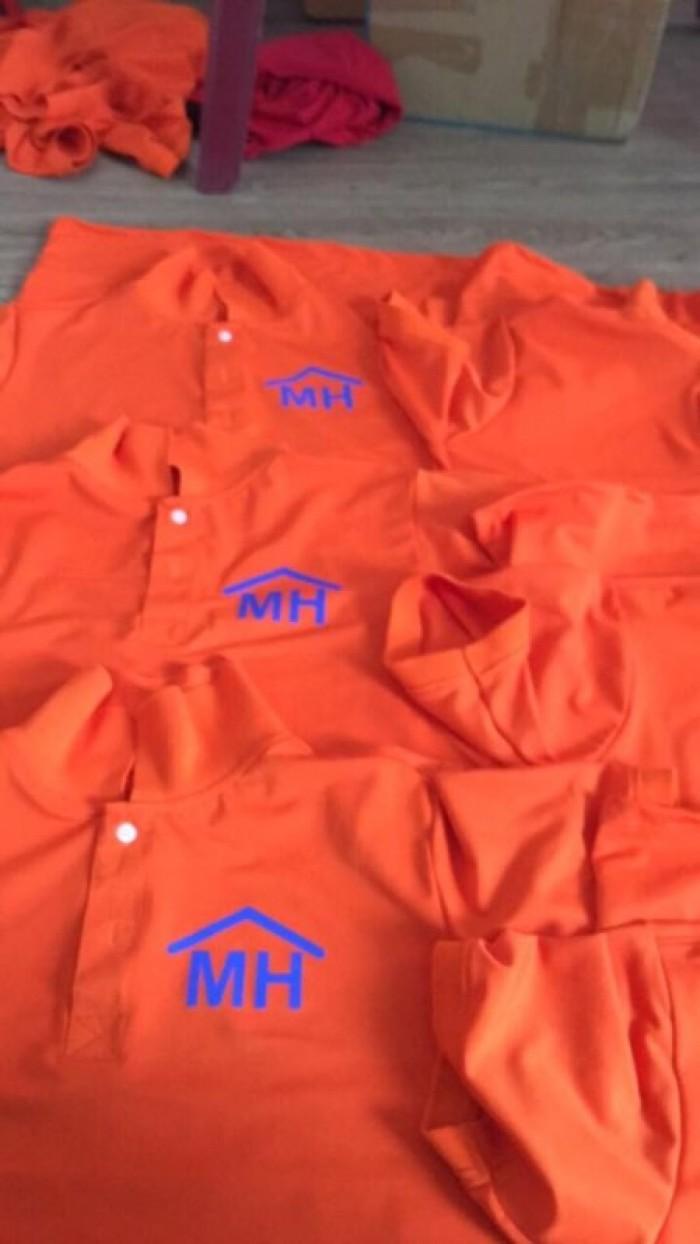 áo thun đồng phục công ty mình hưng màu cam mỹ1