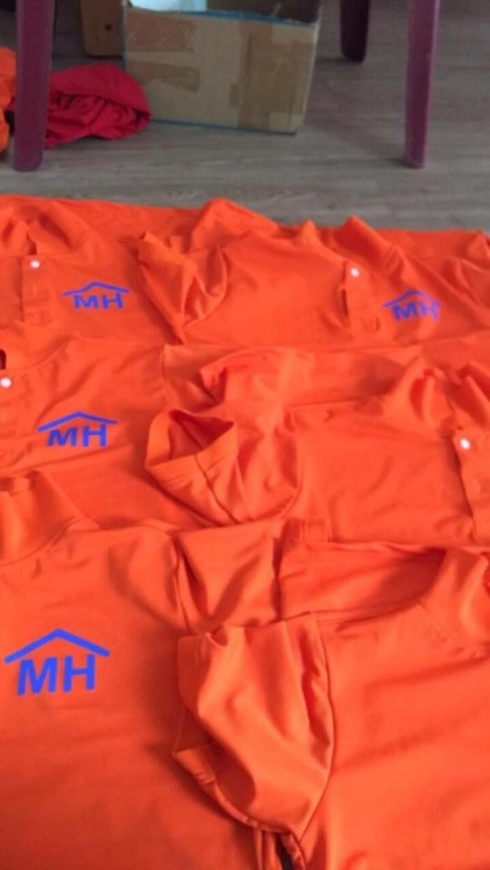 áo thun đồng phục công ty mình hưng màu cam mỹ0