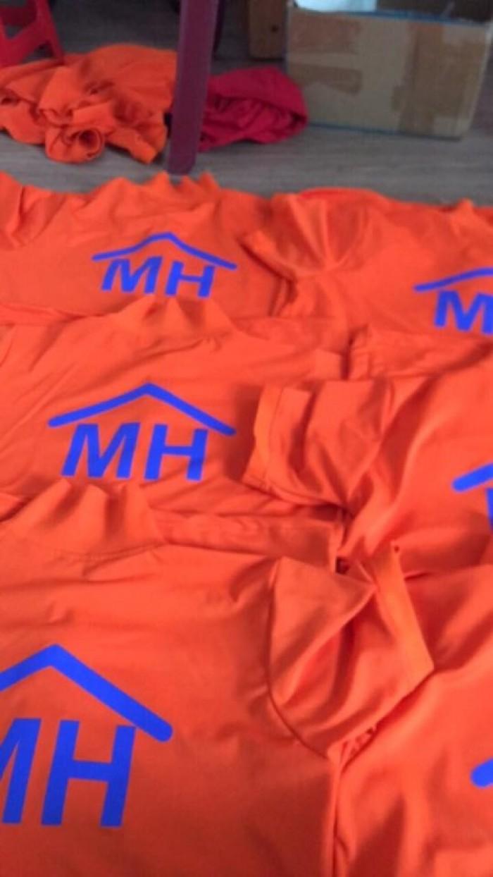 áo thun đồng phục công ty mình hưng màu cam mỹ3