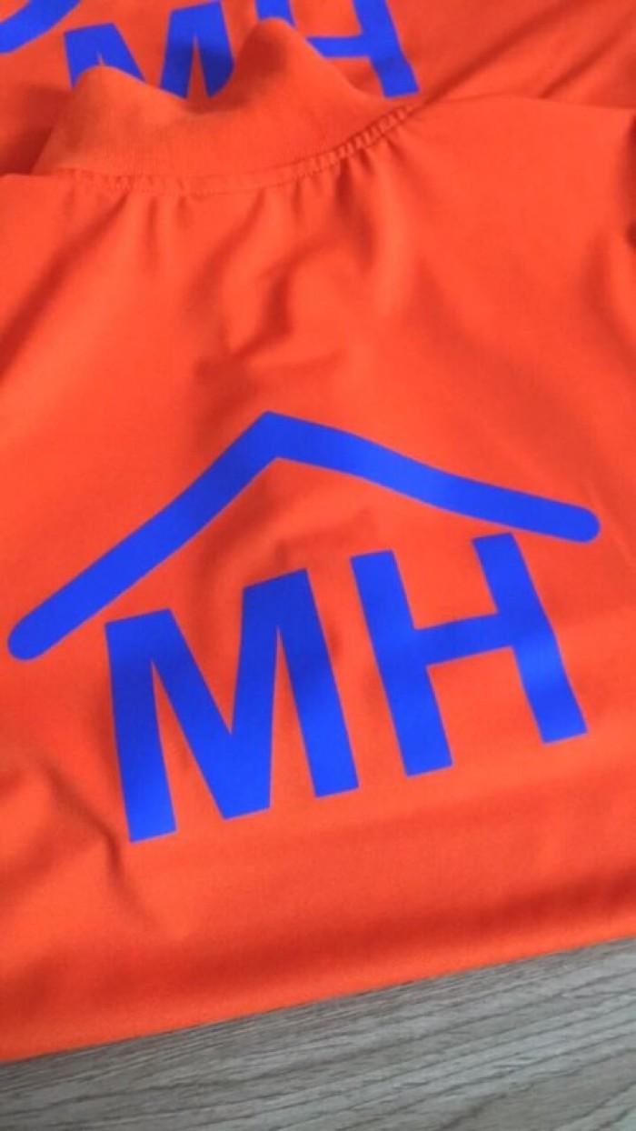 áo thun đồng phục công ty mình hưng màu cam mỹ2