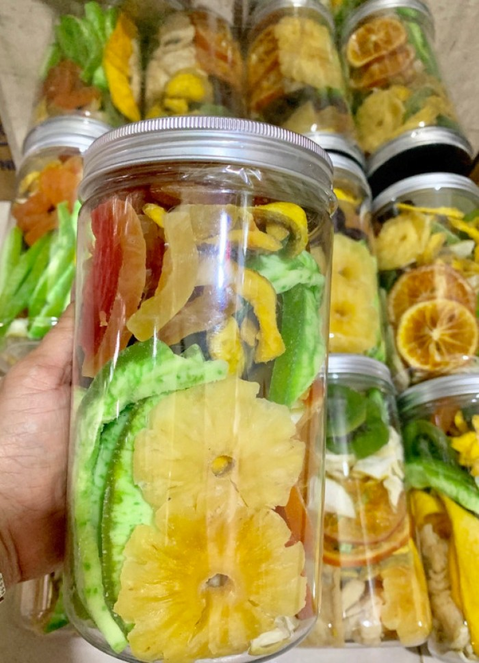 Hủ 500gr Trái cây sấy dẻo mix thập cẩm cao cấp - Food By Mama4