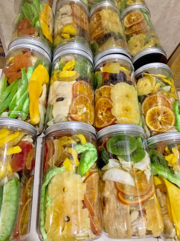 Hủ 500gr Trái cây sấy dẻo mix thập cẩm cao cấp - Food By Mama3