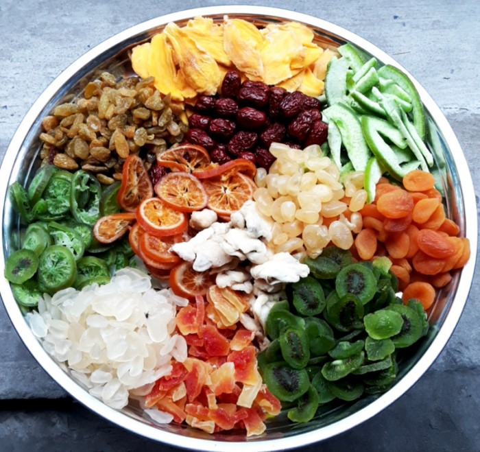 Hủ 500gr Trái cây sấy dẻo mix thập cẩm cao cấp - Food By Mama1