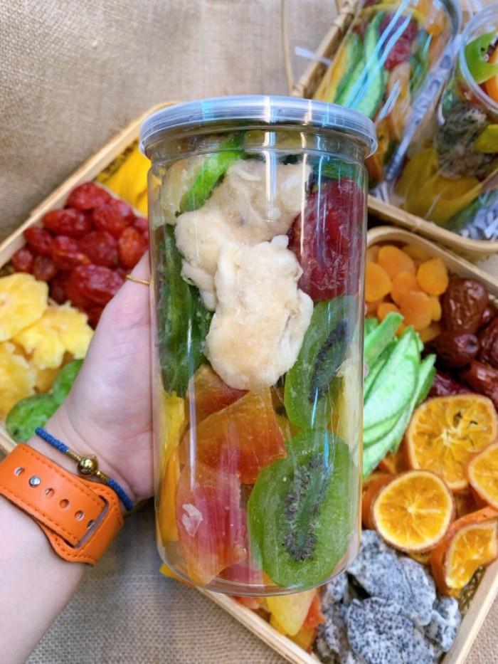 Hủ 500gr Trái cây sấy dẻo mix thập cẩm cao cấp - Food By Mama2